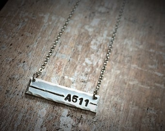 Thin Blue Line Inspired Necklace - Call Number Necklace - Badge Number Jewelry - Personalized Boys in Blue Jewelry