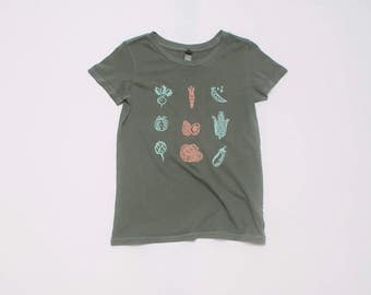 Eat Your Veggies Tee, Yoga Tee, Gardening Shirt, Gift for Mom, Mother's Day, S,M,L,XL