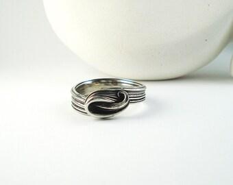 Ocean Ring, Ocean Wave Ring, Ocean Ring Sterling, Silver Ocean Ring, Ocean Themed Jewelry, Statement Wave Ring, Beach Ring, Hawaii Wave Ring