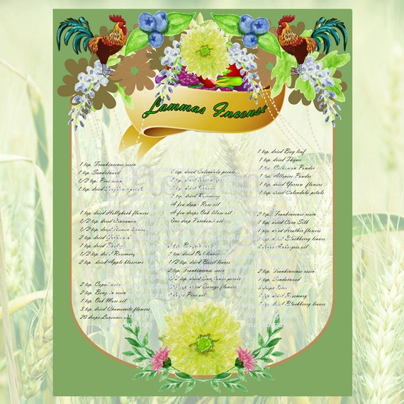 Lammas Incense Recipes