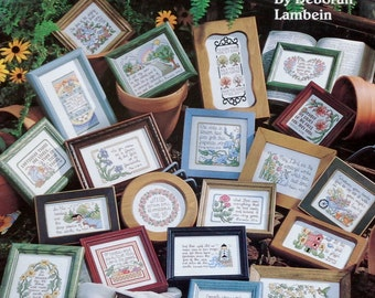 Counted Cross Stitch Booklet 50 GARDEN MINIS Inspired By SCRIPTURE (Multiple Designs) By Leisure Arts