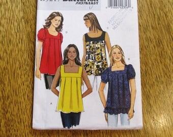 SOUTHWESTERN Blouse / Muu Muu Shirt w/ Puff Sleeves - All Sizes (8 - 10 - 12 - 14) - UNCUT Sewing Pattern Butterick 5217