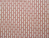 1970s Hearts on Red and White Striped Fabric