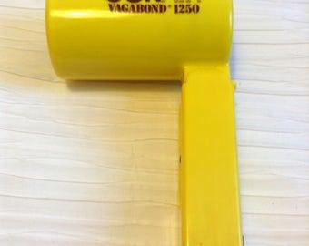 Electric Folding Hair Dryer.  Vagabond 1250 by Conair. Mod, pop, Vintage 1970.  Mid century, Danish Modern, Eames Panton era.  Yellow.