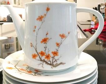 Hand-painted Vintage Noritake Snowville Tea Set (Service for 6)