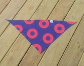 FISHMAN PHISH BANDANA Triangle, Donut  Bandana Kids, Women, Men, Dog, Neckwear, Headwear, Headband, Made-to-Order