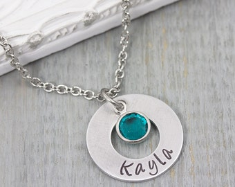 Personalized Necklace - Hand Stamped Jewelry - Personalized Jewelry - Personalized Mom Jewelry - Mothers Necklace - Name Necklace