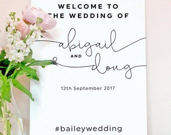 Kate wedding welcome sign