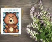 Mama Bear Mother's Day Card - Cute Card For Her - Pun Card - Funny Mother's Day Greeting Card - Love Card - Mum Card - First Mother's Day