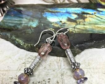 Purple Earrings - Party Jewelry, Womens Jewelry, Boho Chic, Purple Jewelry, Pink Earrings, Jewelry Gifts, Dangle Earrings, Tulips, Nature