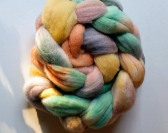 Pretty Pastels: Hand dyed Merino Top (Roving) 100 gram / 3.5 oz Spinning and Felting Fiber by Star Fiber Studio