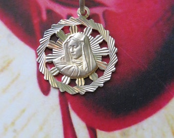 Vintage Virgin Mary 925 Charm and Pendant- from Italian silversmith