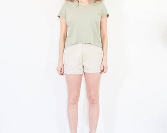 90s Pale Green Cotton Tee