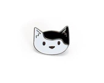 Cute Cat Enamel Pin - Pixie