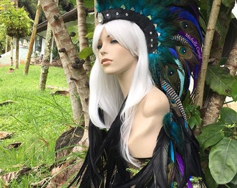 """Feather Mohawk Headdress  - """"Jasmine"""""""