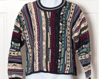 Vintage 90s Womens Textured Sweater - CHRISTOPHER & BANKS -