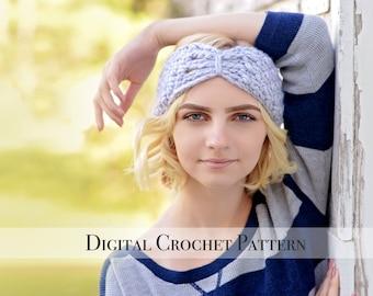 Crochet Ear Warmers Pattern / Butterfly Band Pattern 036 / Crochet Pattern / Crochet Headband Pattern / Crochet Turban Pattern