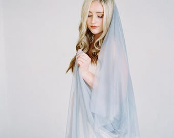 The Gray Veil-created with double soft flowing grey english net veiling which comes in fingertip, chapel and cathedral lengths