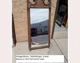 Vintage mid century modern mirror  PICK UP ONLY painting included mod painted bedroom dresser mirror, traditional, mcm, distressed