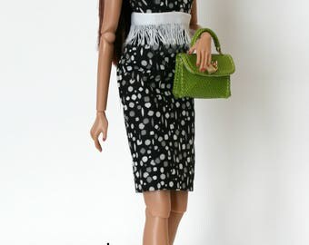 Black Gray White Dress for Barbie Fashion Royalty Dolls