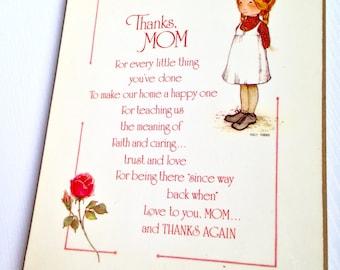 Holly Hobbie Thank You Mom Plaque