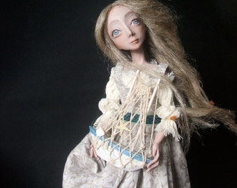 Art doll - Neringa - OOAK doll - OOAK art doll - Unique art doll - Paper clay doll - Handmade doll  - Collecting doll - Art dolls