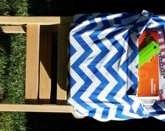 Chair Pockets //Teacher Classroom Organization // Seat Sacks // End of Year // IN STOCK Sale // Cobalt Blue Chevron// Deluxe // 14 inch
