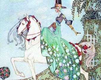 Art Nouveau Whimsical Princess Illustration Print by Kay Nielsen