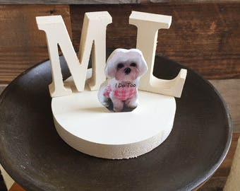 Pet Wedding Cake Topper / Dog Wedding Cake Topper / Cat Wedding Cake Topper / pet cake topper / i do cake topper / Rustic Cake Topper / Cake
