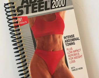 Notebook Journal ABS of STEEL upcycled spiral notebook Recycled VHS gag gift