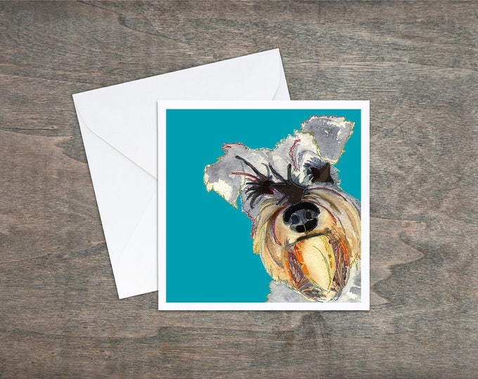 Featured listing image: Schnauzer Dog - Art Card