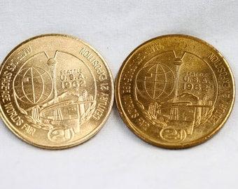 1962 Seattle World's Fair Coin Set - Century 21 Exposition - One Dollar Tokens - Vintage 1962