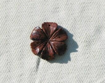 Semi-Precious Gemstone Flower Pendant - Jewelry Making Supplies - 1 pcs