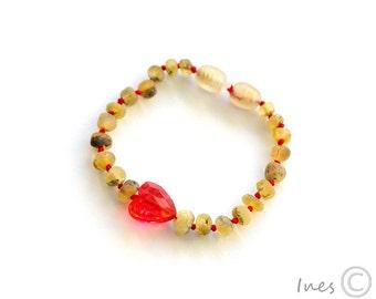 Genuine Baltic Amber, Baby Teething Bracelet,  Amber Teething Bracelet, Baby Amber Bracelet, Baby Amber Anklet