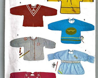 Toddler Playtime Aprons One Size / Original Butterick Uncut Sewing Pattern 3159