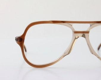 coffee aviator frames