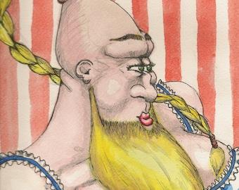 The Bearded Lady Pin-Head