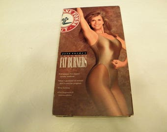 Jane Fonda Favorite Fat Burners VHS Video Tape aerobic workout Pre-owned