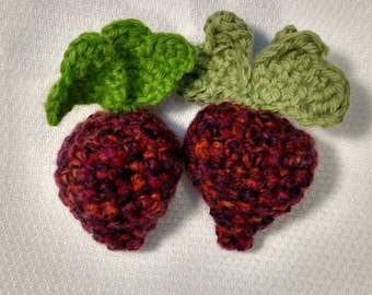 Handmade, Crochet Strawberry or Radish
