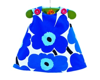 Marimekko Dress - Marimekko - Birthday - Blue - Infant Dress - Baby Shower - Speical Occasions - Handmade Childrens Fashion - 0 to 2T only