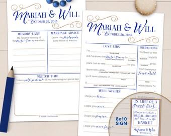 Alternative Wedding Guestbook Mad Lib Advice Card - Printable OR Printed [#216]