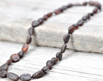 Raw Baltic amber necklace for women. MAXIMUM effective.