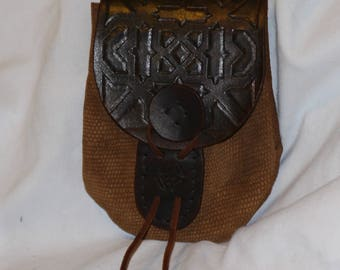 Brown Leather Dwarven Pouch