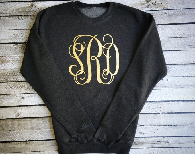 Monogram Sweatshirt, Monogrammed Sweatshirt, Monogram Crewneck Sweatshirt, Monogram sweater, Mother Daughter Sweatshirts, Gifts under 20