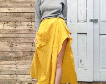 Emilia Sunshine Super Skirt, one generous size, reclaimed fabric