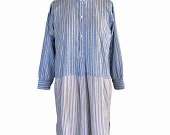 True Vintage Edwardian 20s Striped Shirt S/M