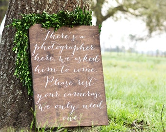 Unplugged Ceremony Sign, Unplugged Wedding Sign, Unplugged Sign, Wooden Wedding Signs, No Photos sign, Wood Weddings Signs