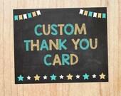 Custom Thank You card Invitation. PRINTABLE. thank you card. DIGITAL