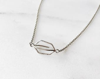 Voluminous and Lightweight Single Seed Pod Necklace. Handmade in sterling silver. Made To Order!