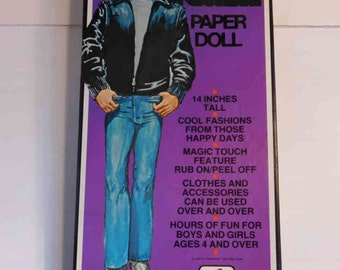 "Vintage Happy Days Fonzie paper doll  14"" tall, in box"
